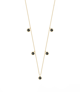 Choker Black Diamonds Gold