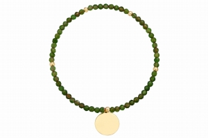 Bransoletka Natural Green Agat Circle
