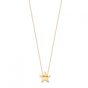 Naszyjnik Simple Star Gold