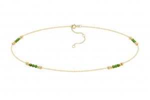 Choker Natural Green Agat