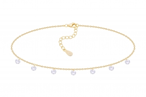 Choker Crystal Gold