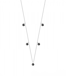 Choker Black Diamonds Silver
