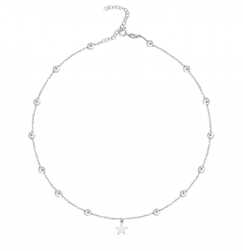 Choker Balls with Star Silver