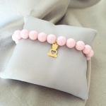 Bracelet with Swarovski pearls and bear
