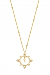Naszyjnik Beaded Cross Gold