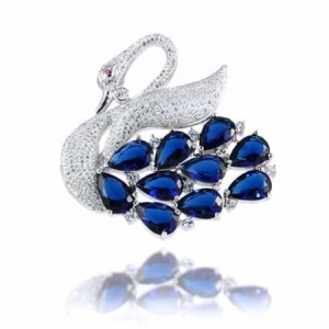 Broszka Blue Little Swan