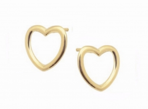 Minimal Heart Gold Earrings