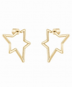 Asymetric Stars Gold Earrings