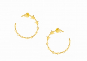 Twisted Stars Gold Earrings