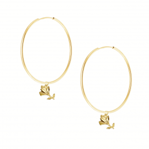 Kolczyki Antique Roses Hoops Gold