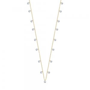 Choker Simple White Gold