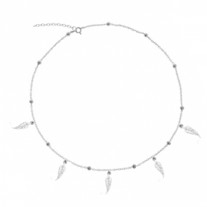 Choker Five Feather Silver