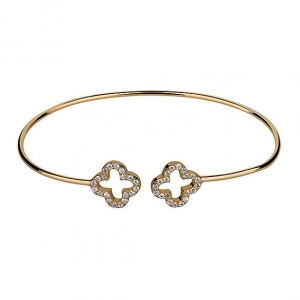 Bangle Flower Gold Bracelet