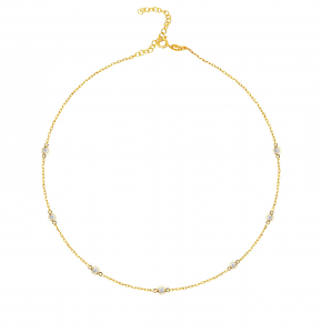 Diamond Fall Gold Necklace