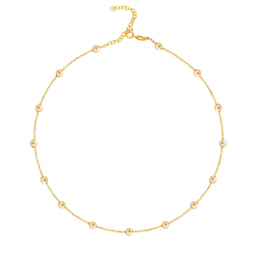 Choker Simple Balls Gold