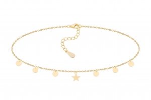 Choker One Star&Circles Gold