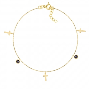Bransoletka Cross Black