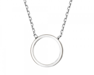 Open Circle Silver Necklace