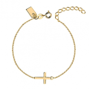 New Cross Gold Bracelet