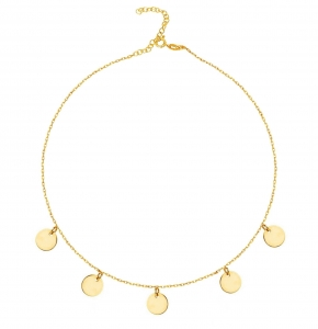 Choker Five Coins Gold
