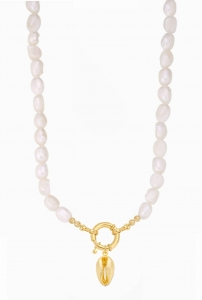 Naszyjnik Pearls with Shell Locket Gold