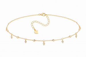 Choker Candy Diamonds Gold