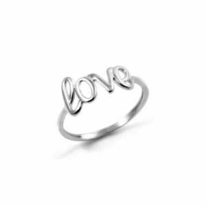 Neon Love Silver Ring