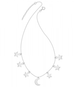 Choker Six Stars and Moon Silver