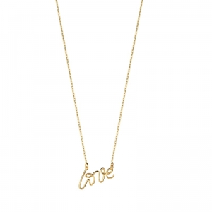 Neon Love Gold Necklace