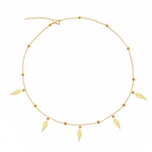 Choker Five Feather Gold