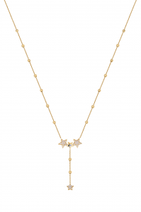 Multistar Lariat Gold Necklace