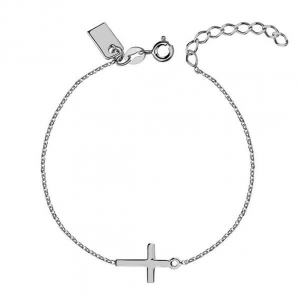 New Cross Silver Bracelet