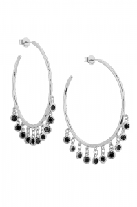 Gypsy Hoops Silver Earrings