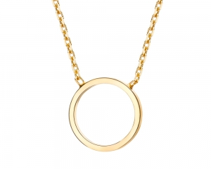 Open Circle Gold Necklace