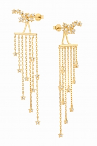 Waterfall Diamonds Gold Earring
