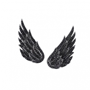 Kolczyki King Wings Black