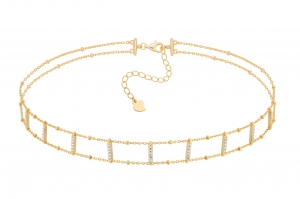 Choker Simple Line Gold
