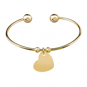 Bransoletka Double Ball Heart Gold