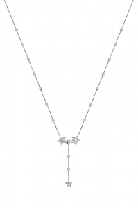 Multistar Lariat Silver Necklace