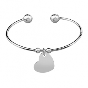 Bransoletka Double Ball Heart Silver