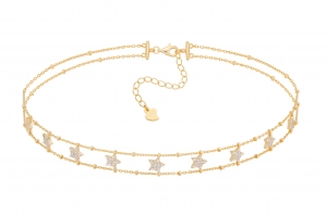 Choker Fawn Star Gold