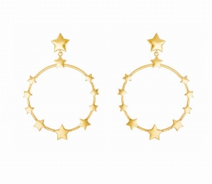 Fawn Stars Gold Earrings