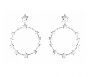 Fawn Stars Silver Earrings