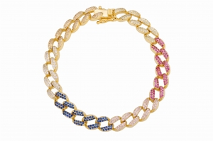 Bransoletka Rainbow Chain Gold