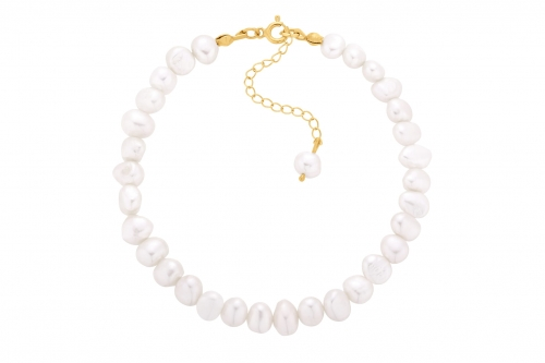Bransoletka Anklet Pearls Gold