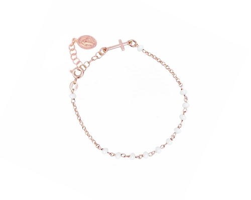 Bransoletka Rosary White Rose Gold